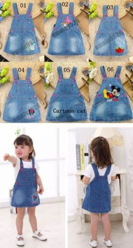 Lovely Kids Girls Toddler Baby braces Jean dress summer clothes baby party dress #Unbranded #DressyEverydayHolidayPageantWedding