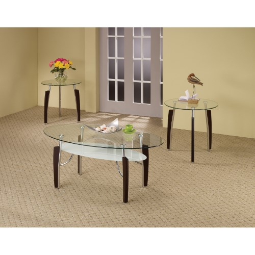 Best Coaster Furniture Modern 3 Piece Glass Top Coffee Table 400 x 300