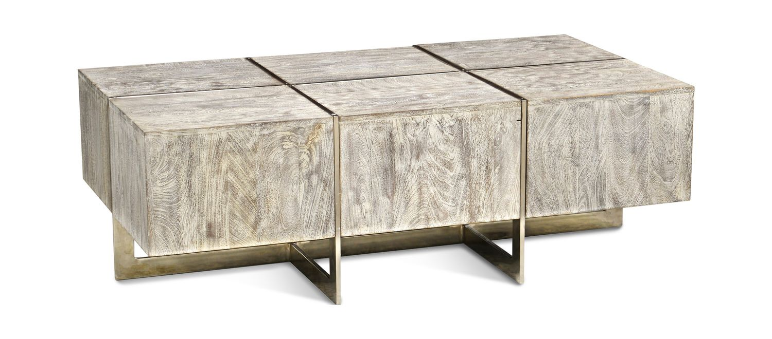 Desmond Coffee Table Mixed Materials Grey