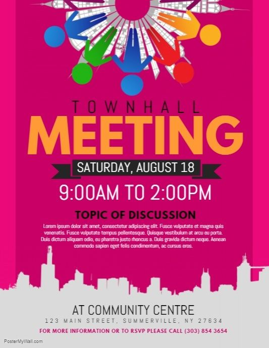 Townhall Meeting Flyer | Promotional flyers, Flyer design ...