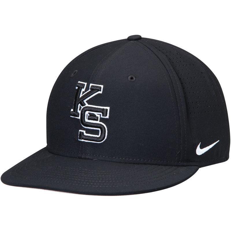 buy popular 4e719 fb0b0 Fanatics.com - Nike Kansas State Wildcats Nike Aero Bill True Fitted Hat -  Black