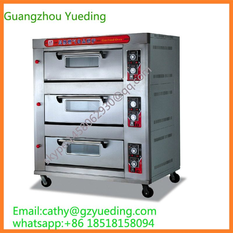 Commercial Bakery Gas Bread Baking Oven Rotary Oven Bread Baking Oven 6 Trays Gas Oven Deck Oven Bread Oven