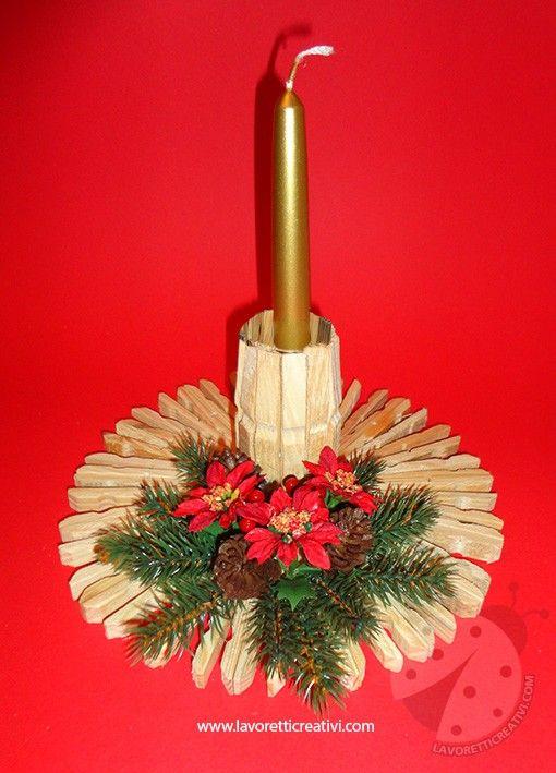 25 Idee Decoro Per Natale Con Mollette Da Bucato Natale