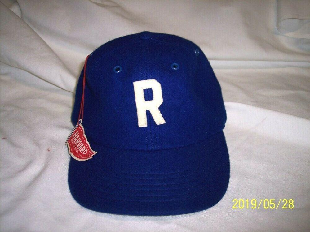 818d22342 Vintage 1950's Harvard Wool Fitted Baseball Cap Hat Size 7 1/2 #harvard #