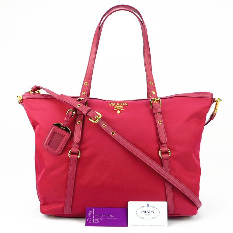 c7db592d4c30c2 PRADA 2ways Bag (BR4253) IBISCO/ PINK Colour Nylon With Leather Good  Condition Ref.code-(KKUC-8)