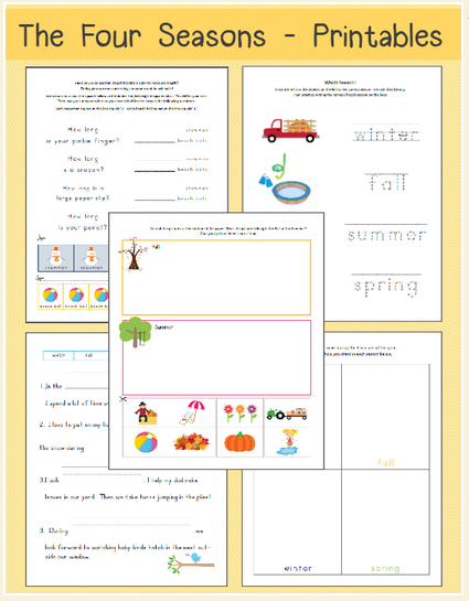 Reasons for Seasons Worksheet