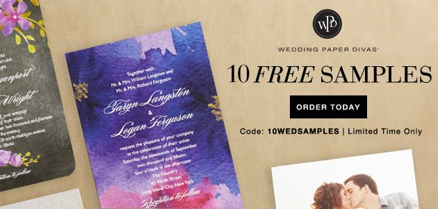 FREE 8 Stationery Samples from Wedding Paper Divas