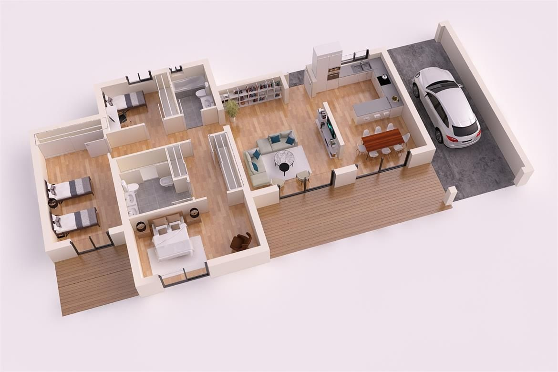 Paris 2 casa piloto 180m2 casas piloto donacasa for Casas minimalistas 180m2