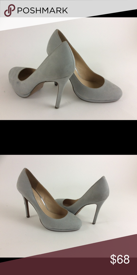 6006c97f284a Jessica Simpson silver heels Cocktail shoes Shoes Heels