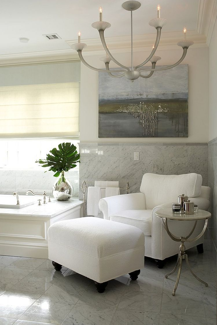 - Cool Little Luxury: 30 Bathrooms That Delight With A Side Table