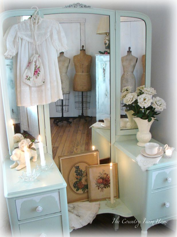 Brilliant A Bedroom Vanity Change Soft Blues Shabby Chic Decor Home Interior And Landscaping Ologienasavecom