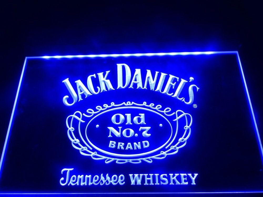 Led Sign Home Decor Prepossessing Jack Daniel's Led Neon Bar Light Sign Custom Home Bar Beerled Decorating Design