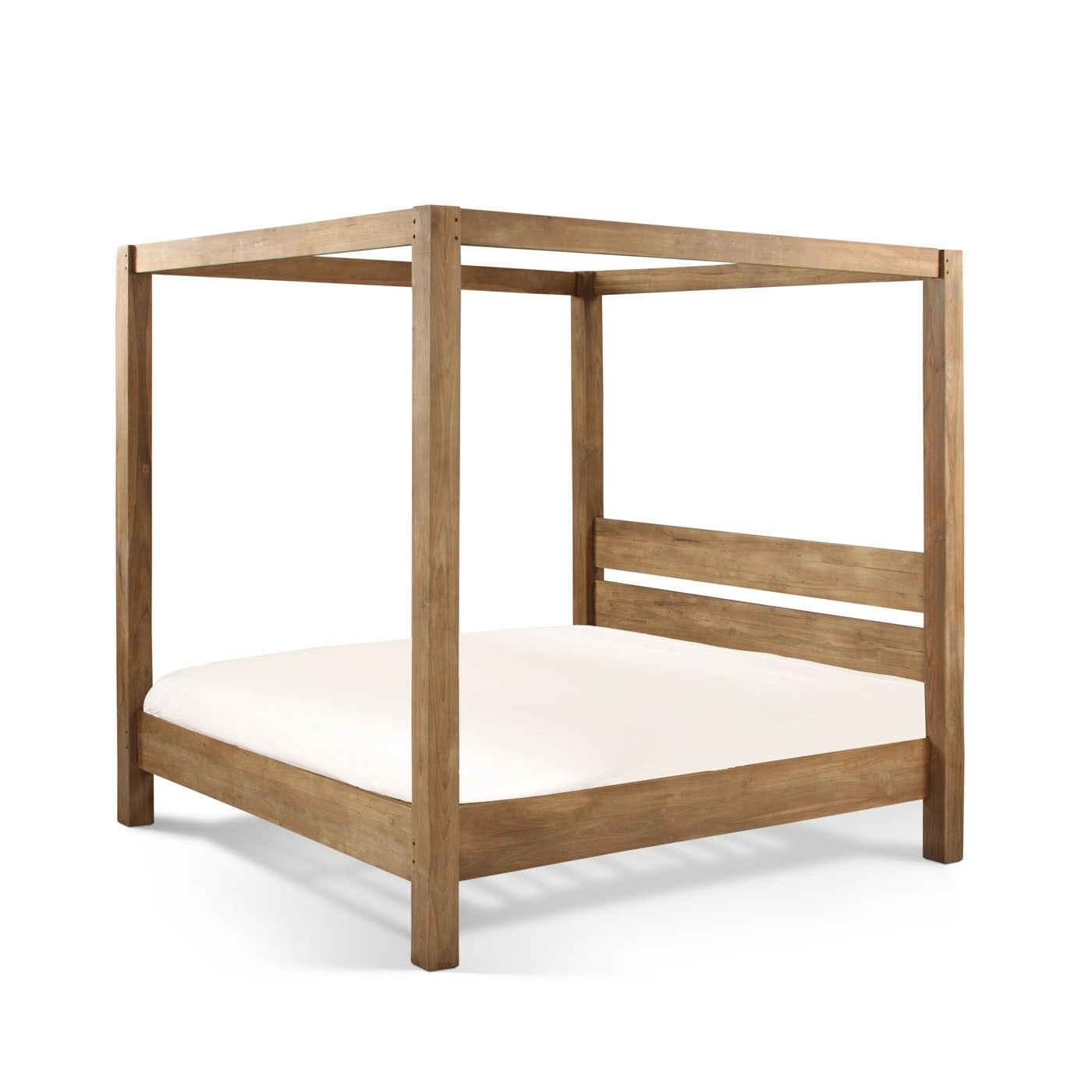 King Size 4 Poster Bed Part - 36: King Size · Four Poster Bed Natural Teak. Obsessed