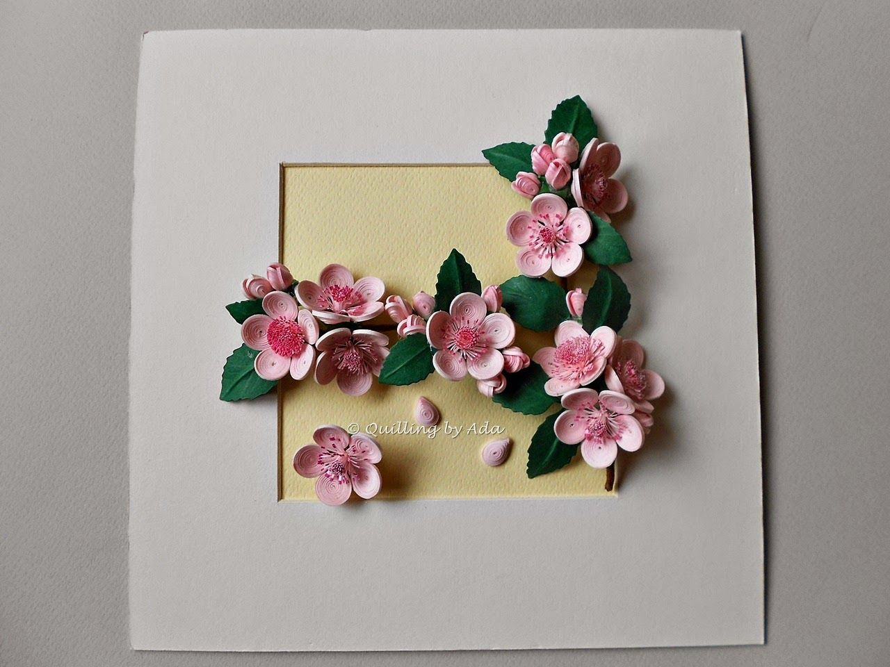 Quilling by Ada: Flori de cires | Papel | Pinterest