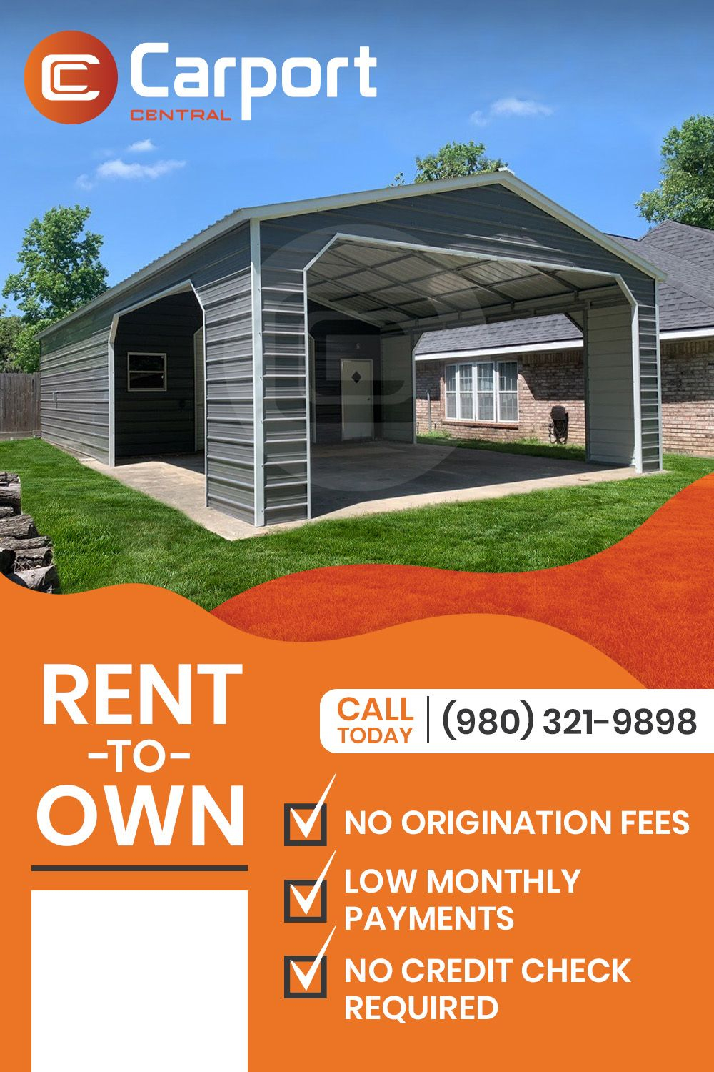 Rent to Own with Carport Central! in 2020 Carport, Metal