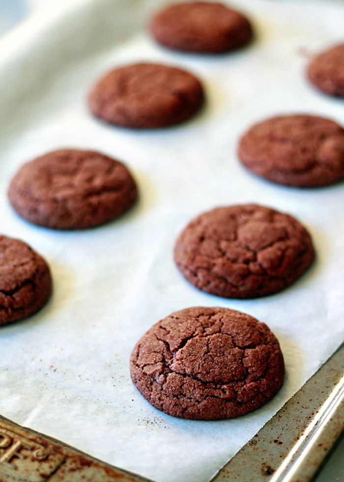 Sparkly Chocolate Snickerdoodles recipe - These rich, fudgy, and crackly snickerdoodles shimmer with sugar.