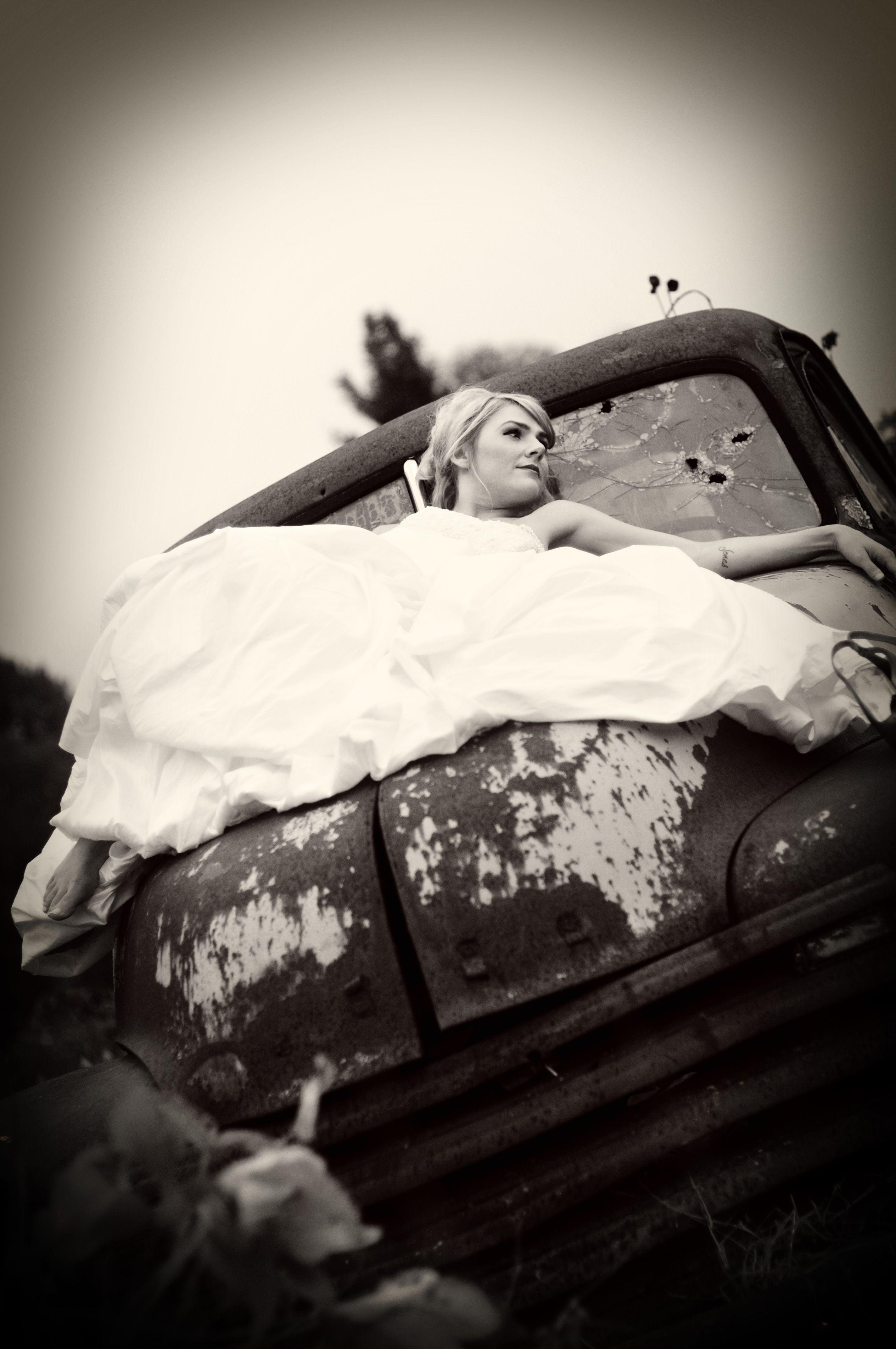 vintage bride-truck
