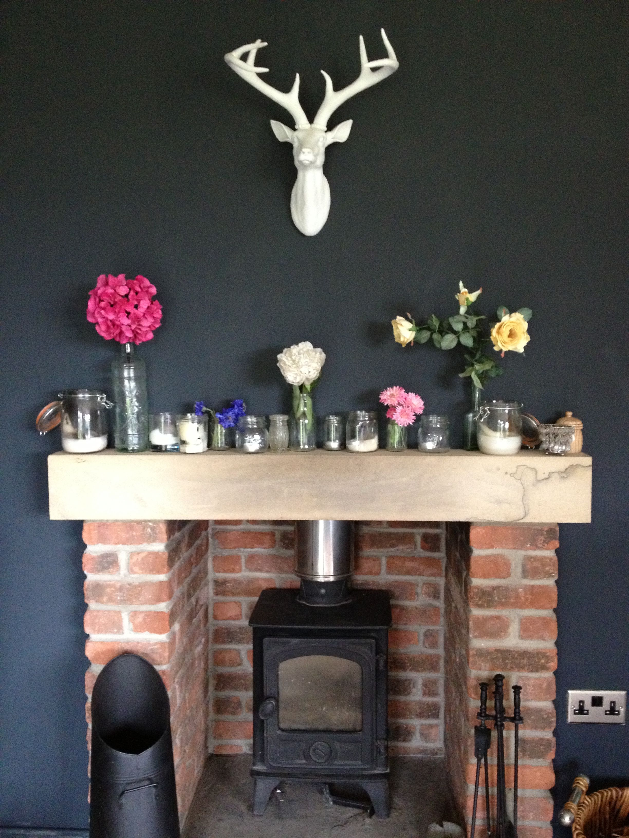 Stags Head Home Decor Fireplace Dark Walls Stags Head Interior Amp Exterior