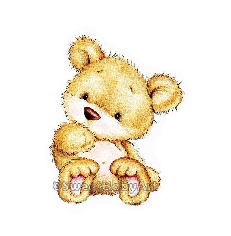 Teddy Bear Nursery Art Print, Animal Nursery Decor, Children Art ...