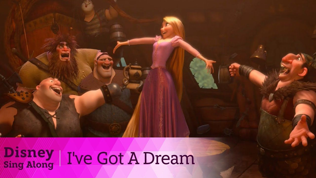 Tangled Lyric Video I Ve Got A Dream Sing Along Singing Tangled Fun Songs