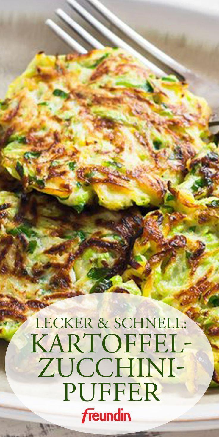 Rezept für Kartoffel-Zucchini-Puffer #food