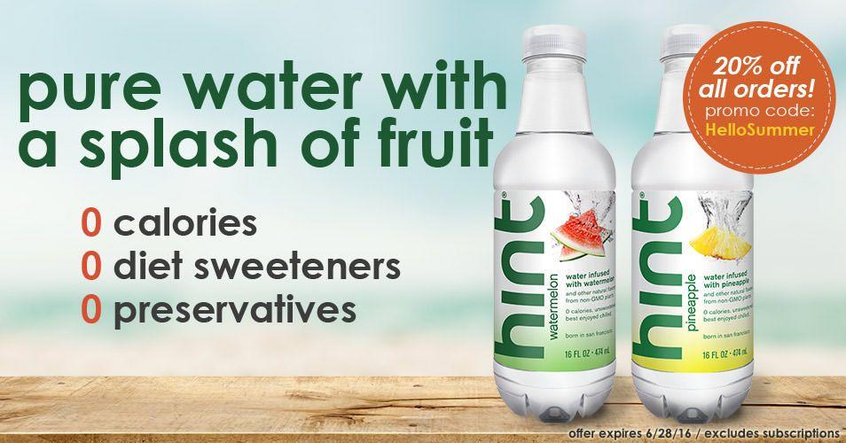 Hint Water Drink Water Not Sugar Fruit Infused Flavored Water Healthy Water