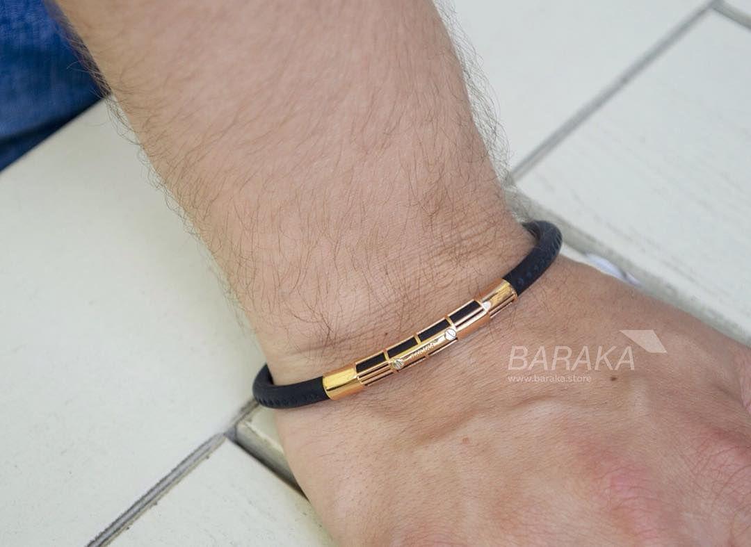 Мужской браслет Baraka - каучук, золото и бриллиант в застежке ... 86dabbbb5cb