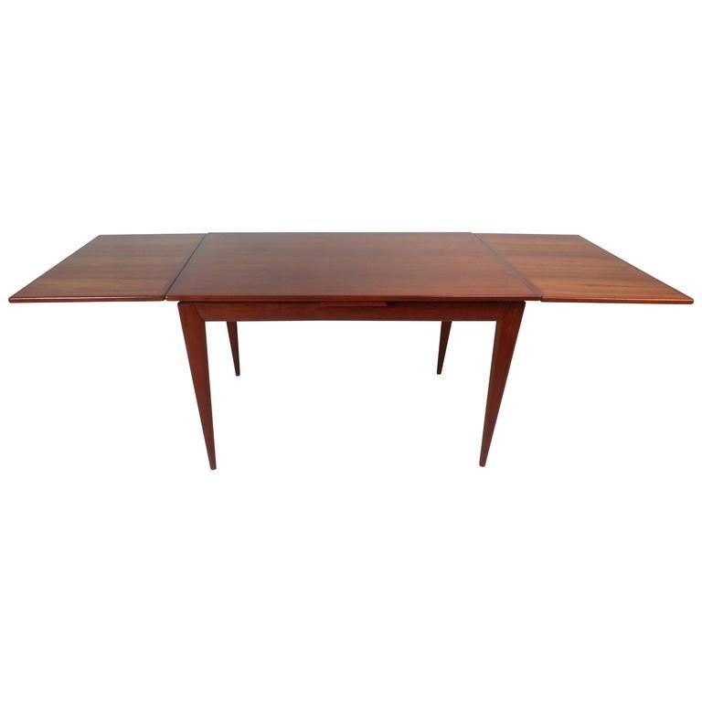 Impressive Mid Century Modern Teak Draw Leaf Dining Table By Niels
