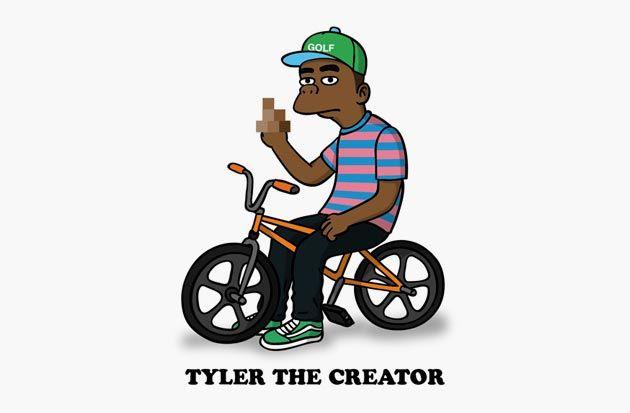 tyler the creator cartoon simpson beast hype pinterest cartoon