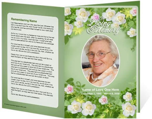 Downloadable Funeral Bulletin Covers  Of A Funeral Programs