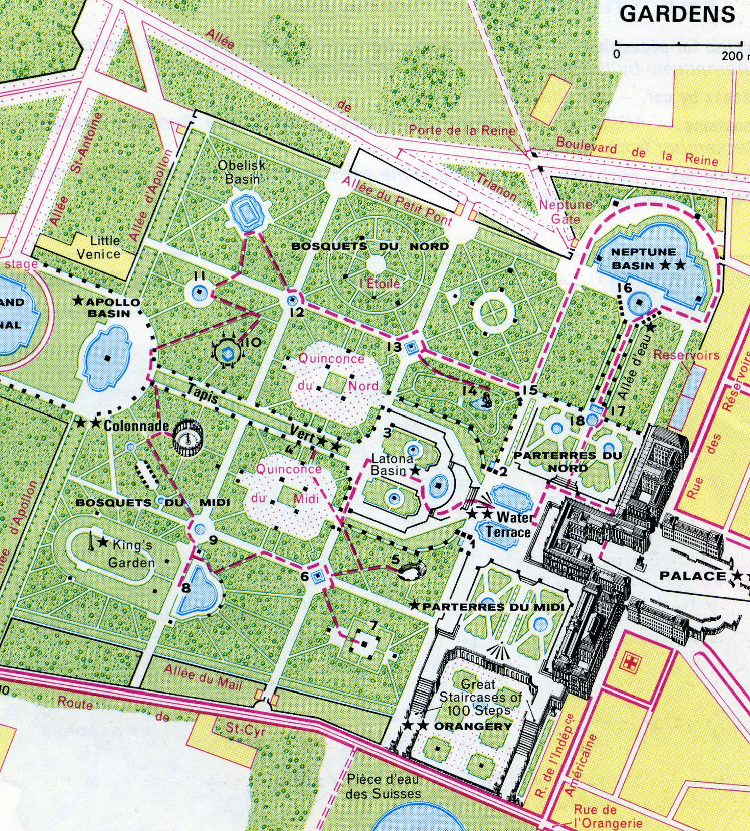 Map Of France Versailles.Versailles Gardens Map Versailles Fountains In 2019 Versailles