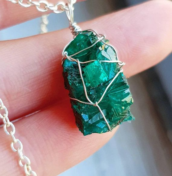 Dioptase necklace dioptase cluster necklace druzy pendant green dioptase necklace dioptase cluster necklace druzy pendant green gemstone necklace emerald wire wrap necklace gift for aloadofball Choice Image