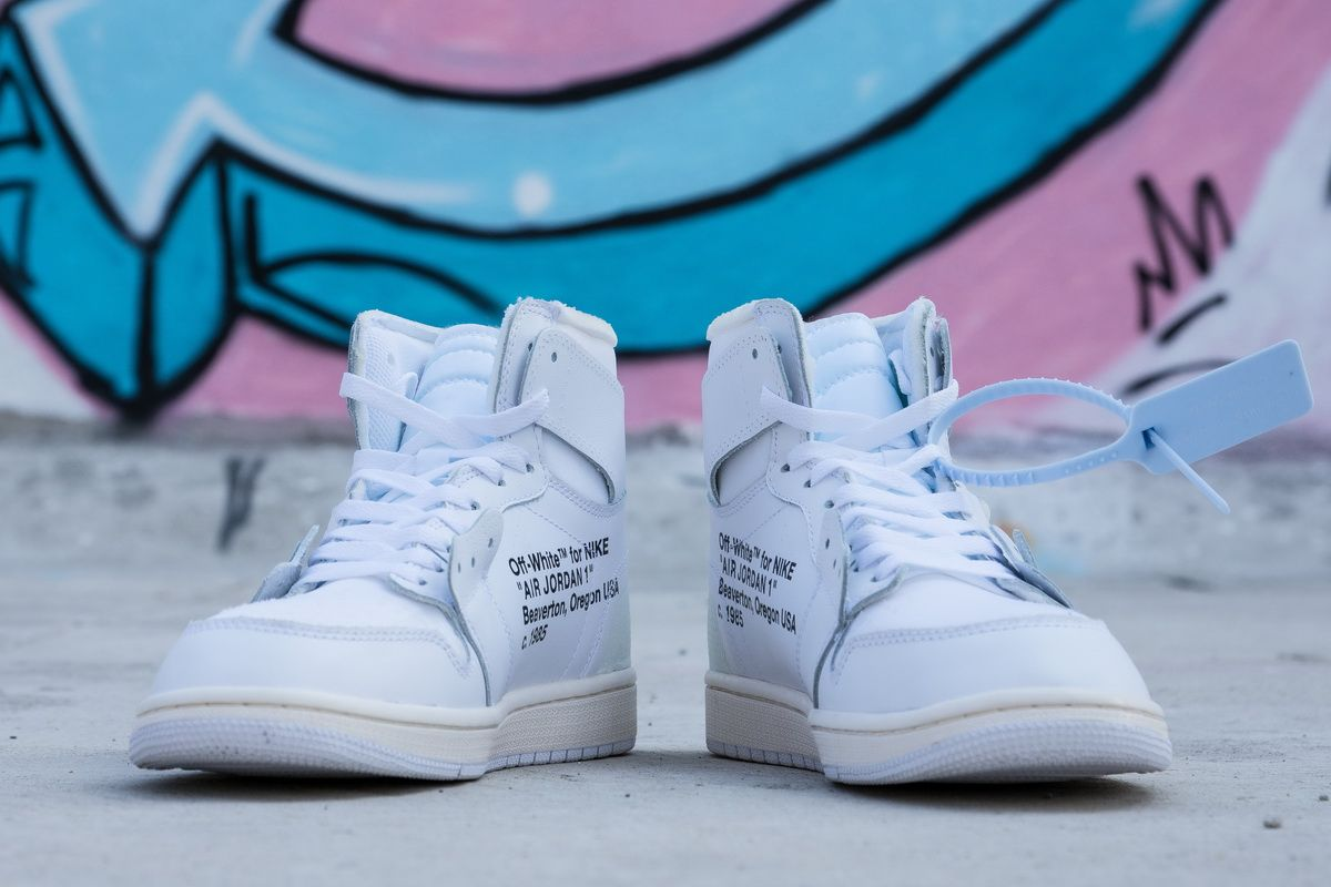 All white OW joint Jordan generation OFF WHITE x Air Jordan