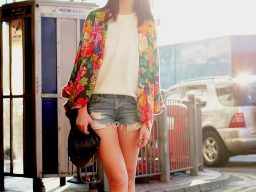 Flowers blazer