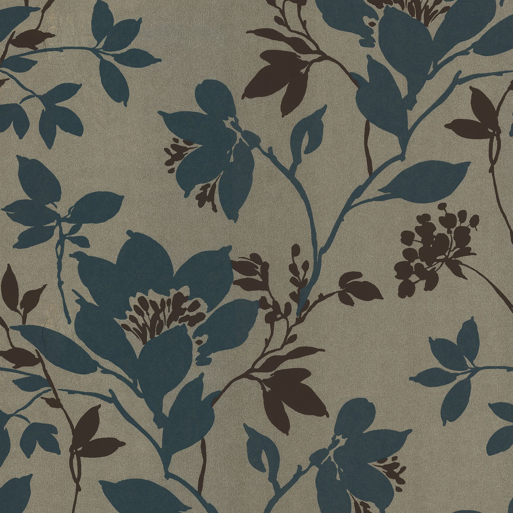 """Kitchen and Bath Resource II 33' x 20.5"""" Floral and Botanical 3D Embossed Wallpaper"""