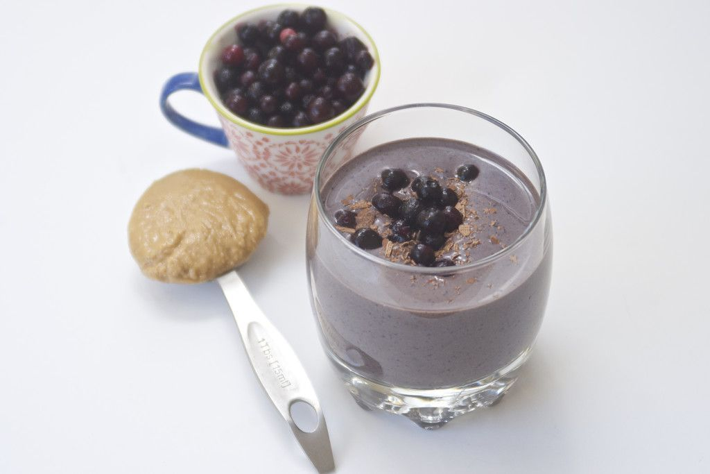 Blueberry Power Smoothie Wild Blueberry Power Smoothie - Made with wild blueberries, peanut butter, chocolate and chia seeds for a nutrient packed breakfast or post work out snack - Bite of Health NutritionWild Blueberry Power Smoothie - Made with wild blueberries, peanut butter, chocolate and chia seeds for a nutrient packed breakfast or post work ou...