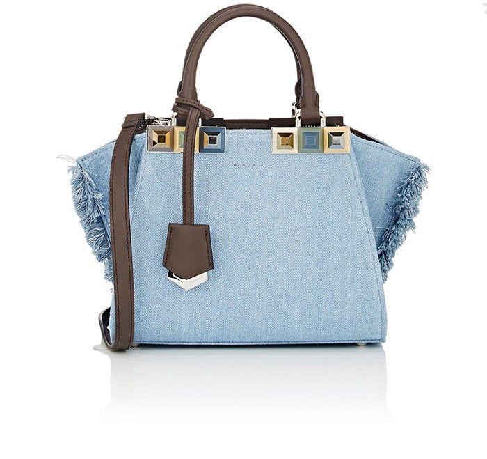 5293ad9093 FENDI 3Jours Mini-Satchel.  fendi  bags  shoulder bags  hand bags  denim   leather  satchel