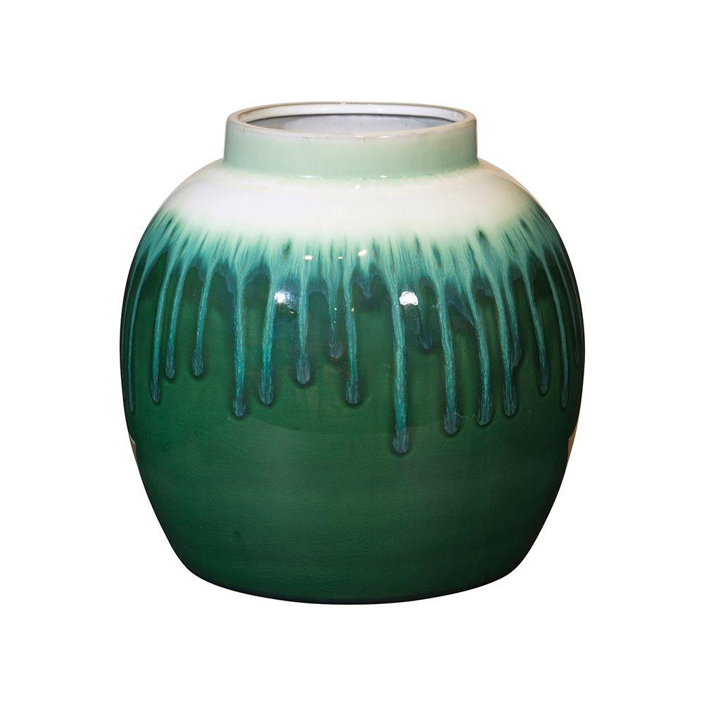 rune vase 25 cm green white 247 lounge decoration. Black Bedroom Furniture Sets. Home Design Ideas