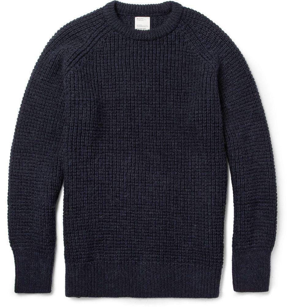 Jean.Machine Men's Wonder Waffle-Knit Wool-Blend Sweater ...