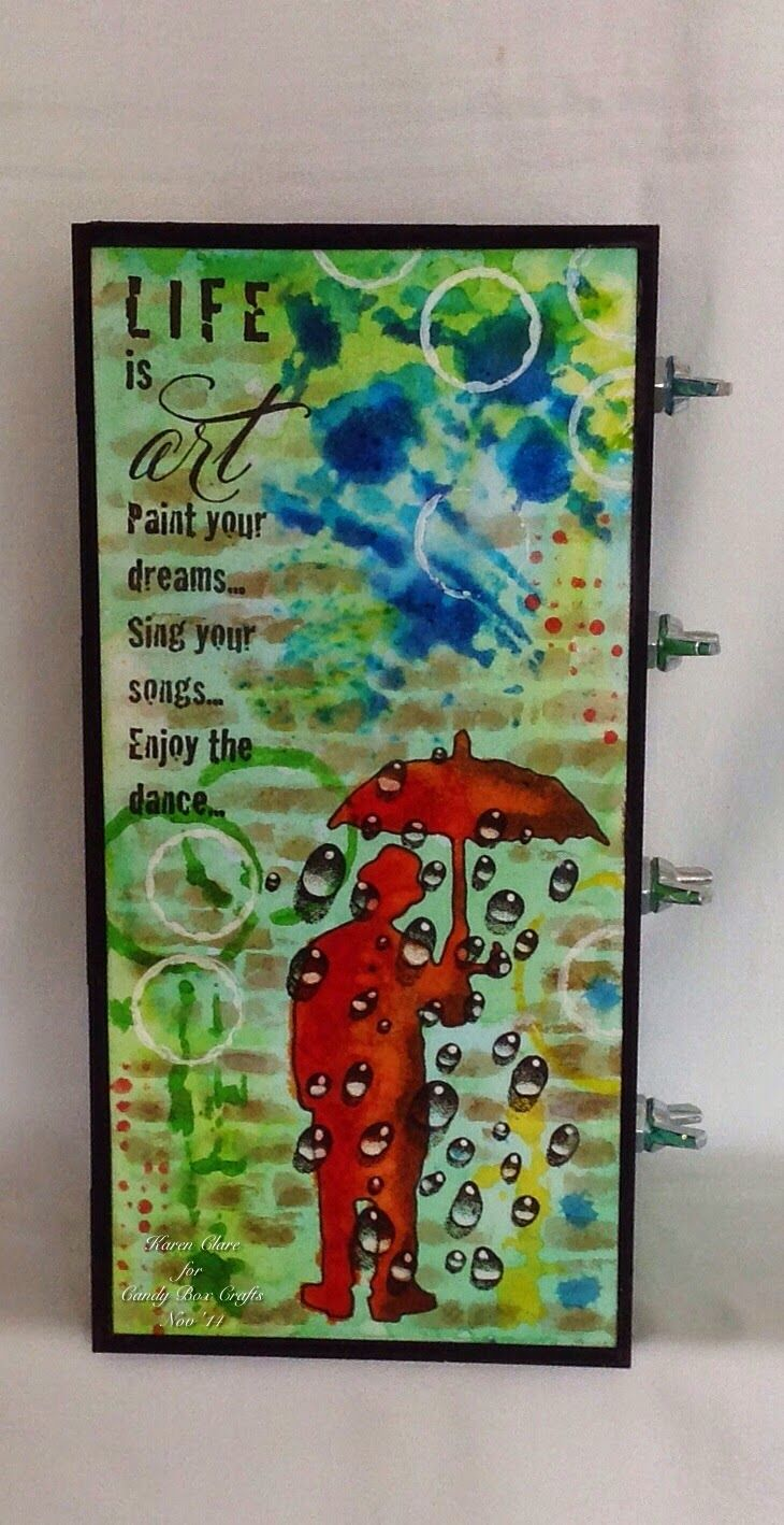 Craft Time...: Brusho Box and Workshop News! using Designs by Ryn: Water Droplets (stamp)