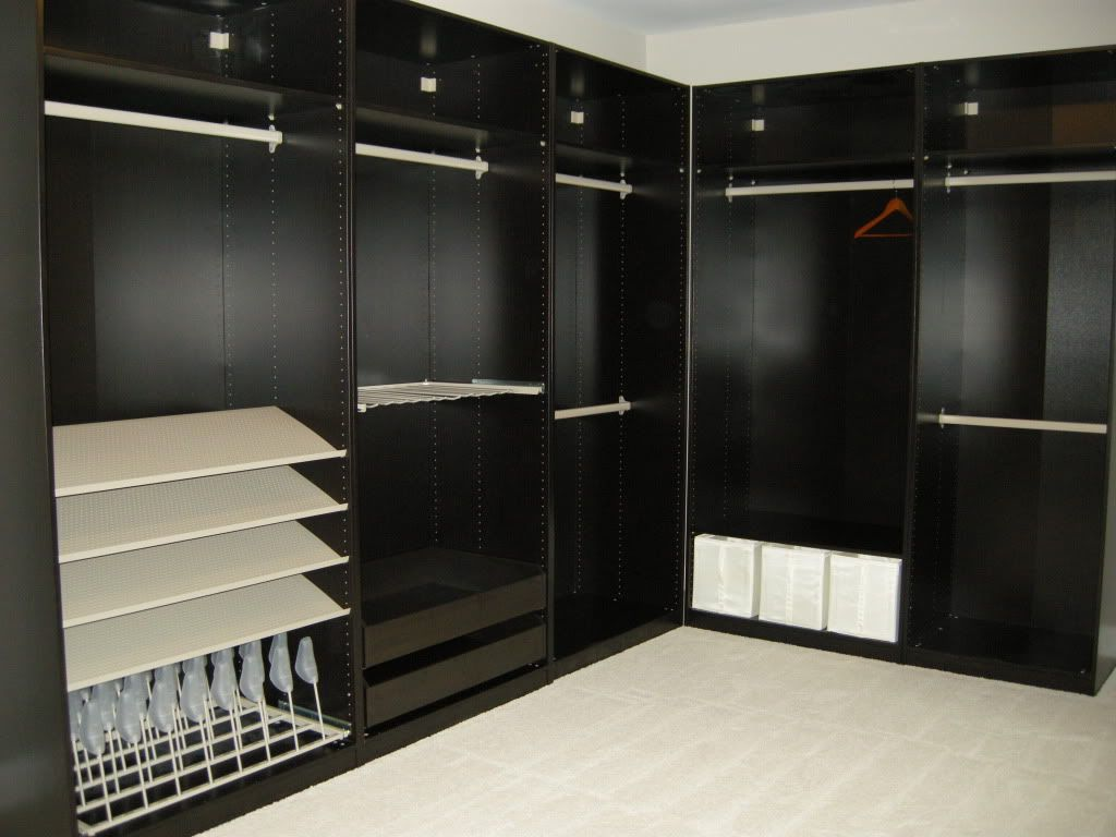 Ikea custom closet re ikea pax system in hall closet and linen closet ho - Customiser armoire ikea ...