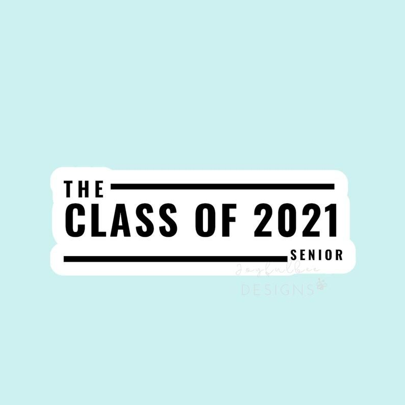 Class of 2021 senior journal stickers quote inspirational