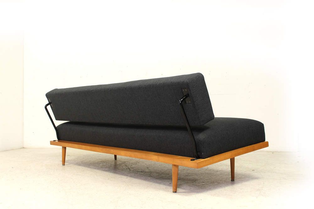 Florence Knoll Daybed 1962 Beechwood 60s Sofa New Upholstery Florence Knoll Basset Knoll