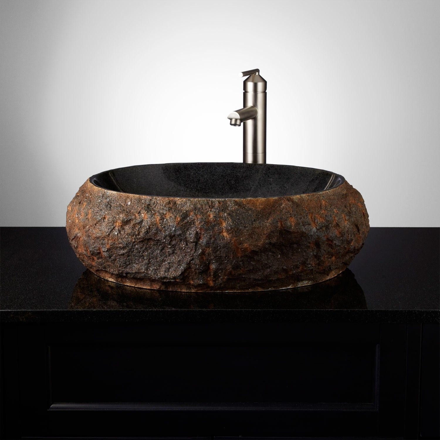 Ridge Natural Stone Vessel Sink Vessel Sink and Natural Stones