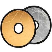 Rebotador Circular P/lente Dorado/plateado Kf&c Envio Gratis
