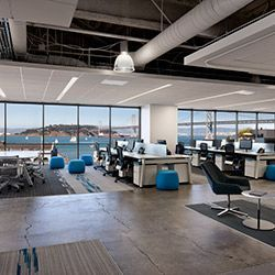 Velti Headquarters By Aecom Office Ceiling Design Open Office