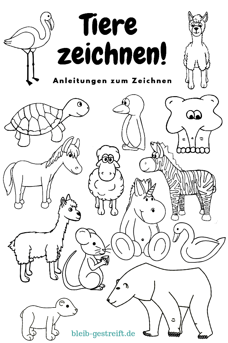 Tiere Zeichnen Tiere Zeichnen Tiere Malen Tiere