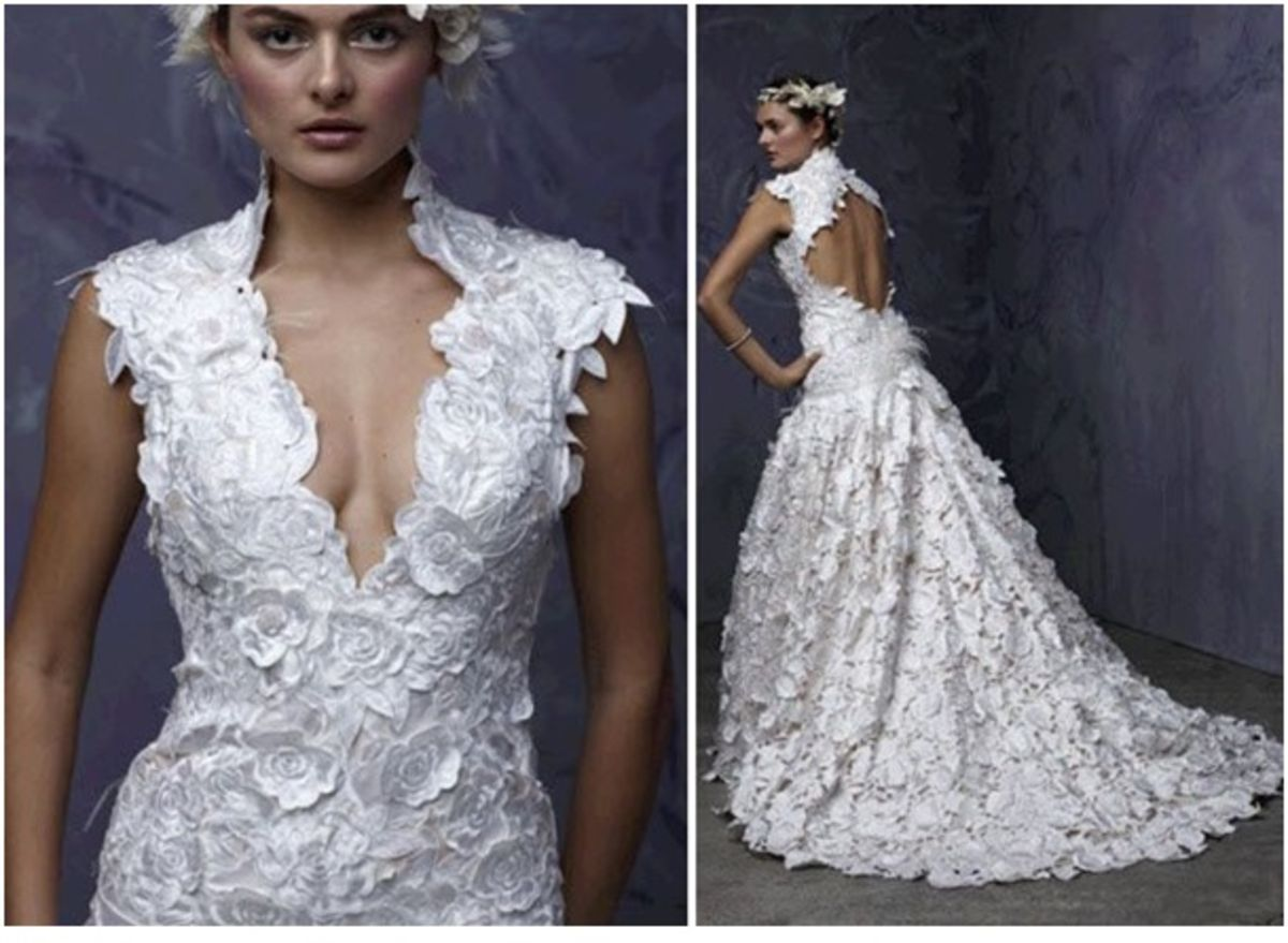 V neck and low back wedding dresses click on image for more ideas