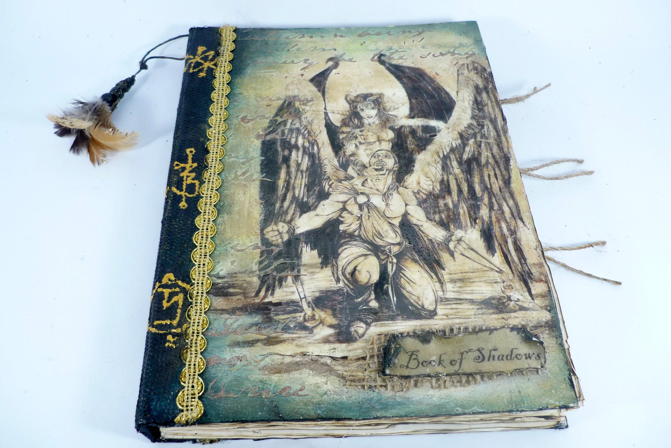 Cyber Week sale Gothic book of shadows blank pages large