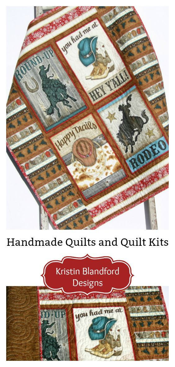 Rodeo Quilt, Western Baby Blanket, Homemade Personalized